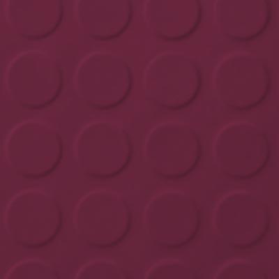 Roppe Rubber Tile 900 - Low Profile Raised Circular Design (992) Plum Rubber Flooring