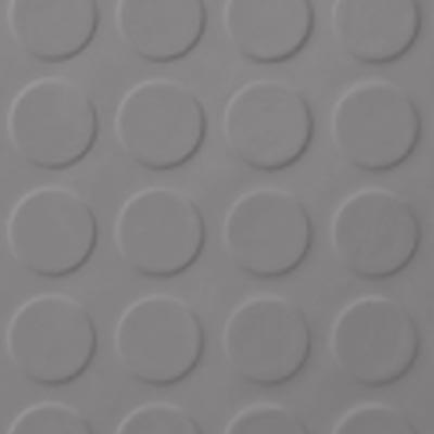 Roppe Rubber Tile 900 - Low Profile Raised Circular Design (992) Slate Rubber Flooring