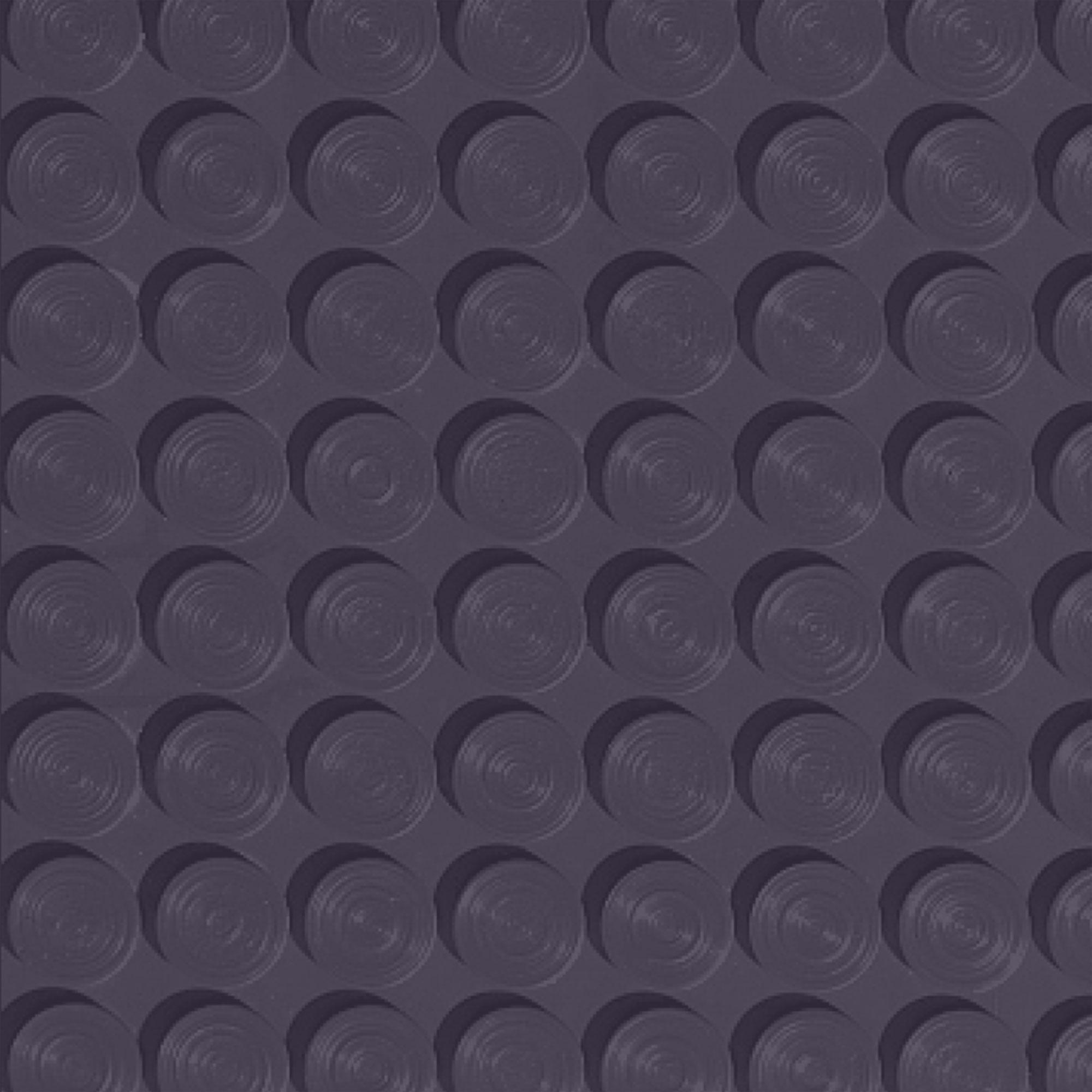 Roppe Rubber Tile 900 - Lug Back Vantage Design (LB996) Aubergine Rubber Flooring