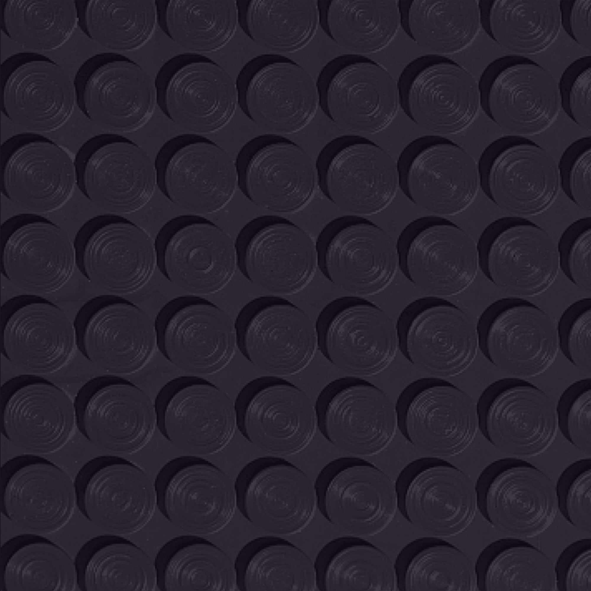 Roppe Rubber Tile 900 - Lug Back Vantage Design (LB996) Black Rubber Flooring