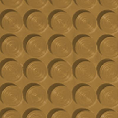 Roppe Rubber Tile 900 - Lug Back Vantage Design (LB996) Brass Rubber Flooring