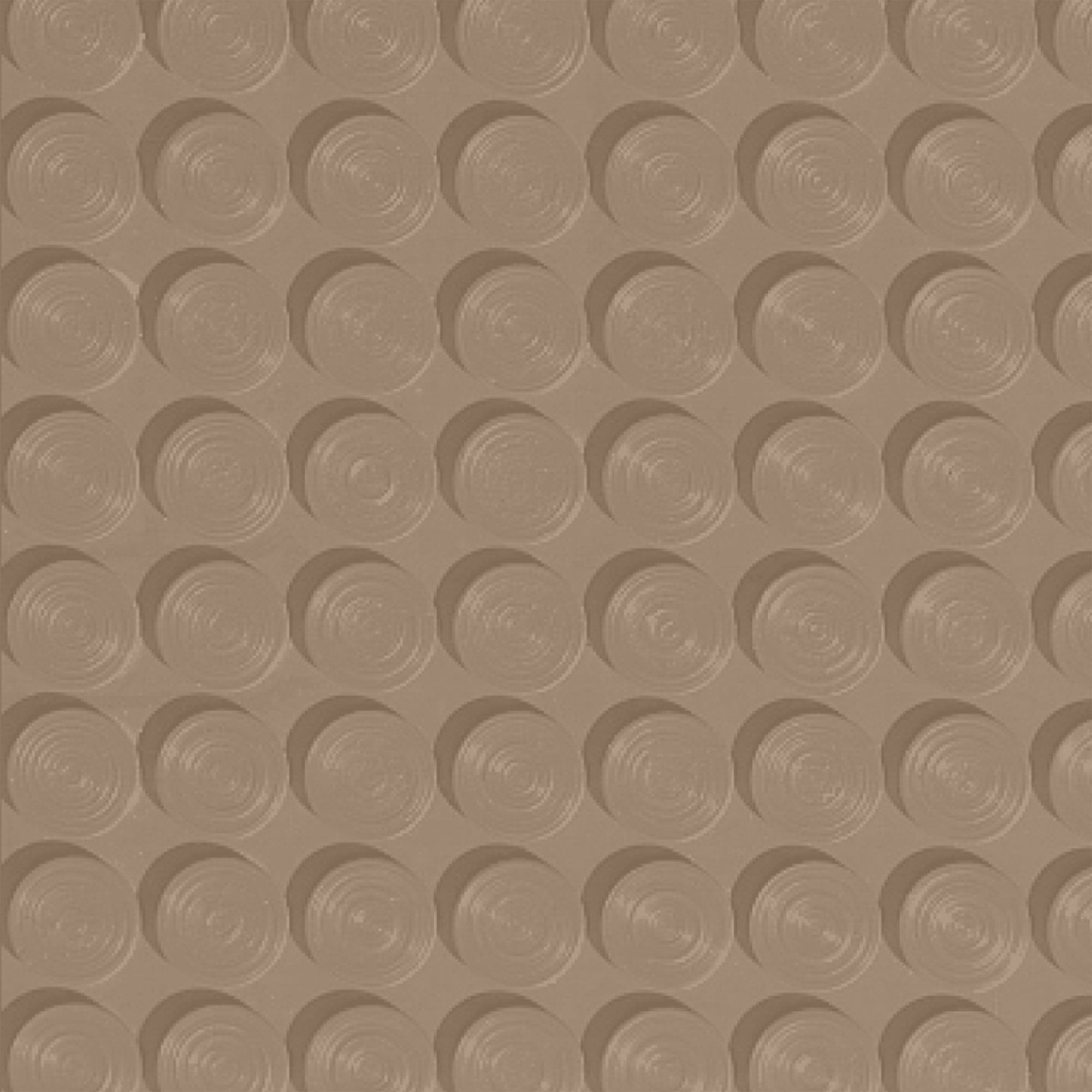 Roppe Rubber Tile 900 - Lug Back Vantage Design (LB996) Buckskin Rubber Flooring