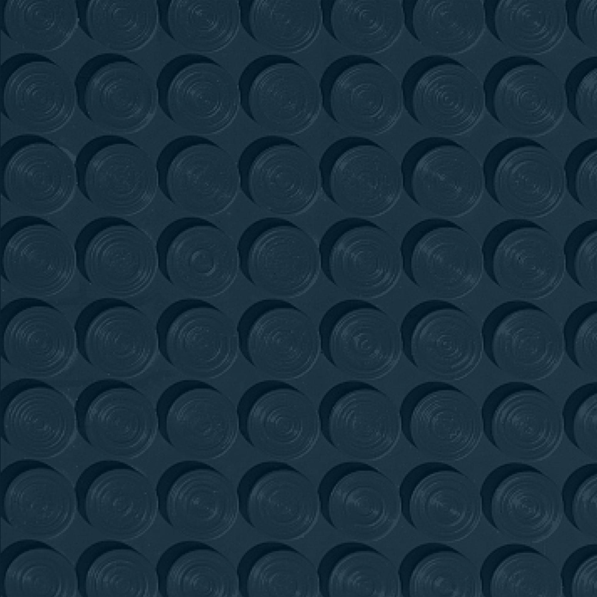 Roppe Rubber Tile 900 - Lug Back Vantage Design (LB996) Deep Navy Rubber Flooring