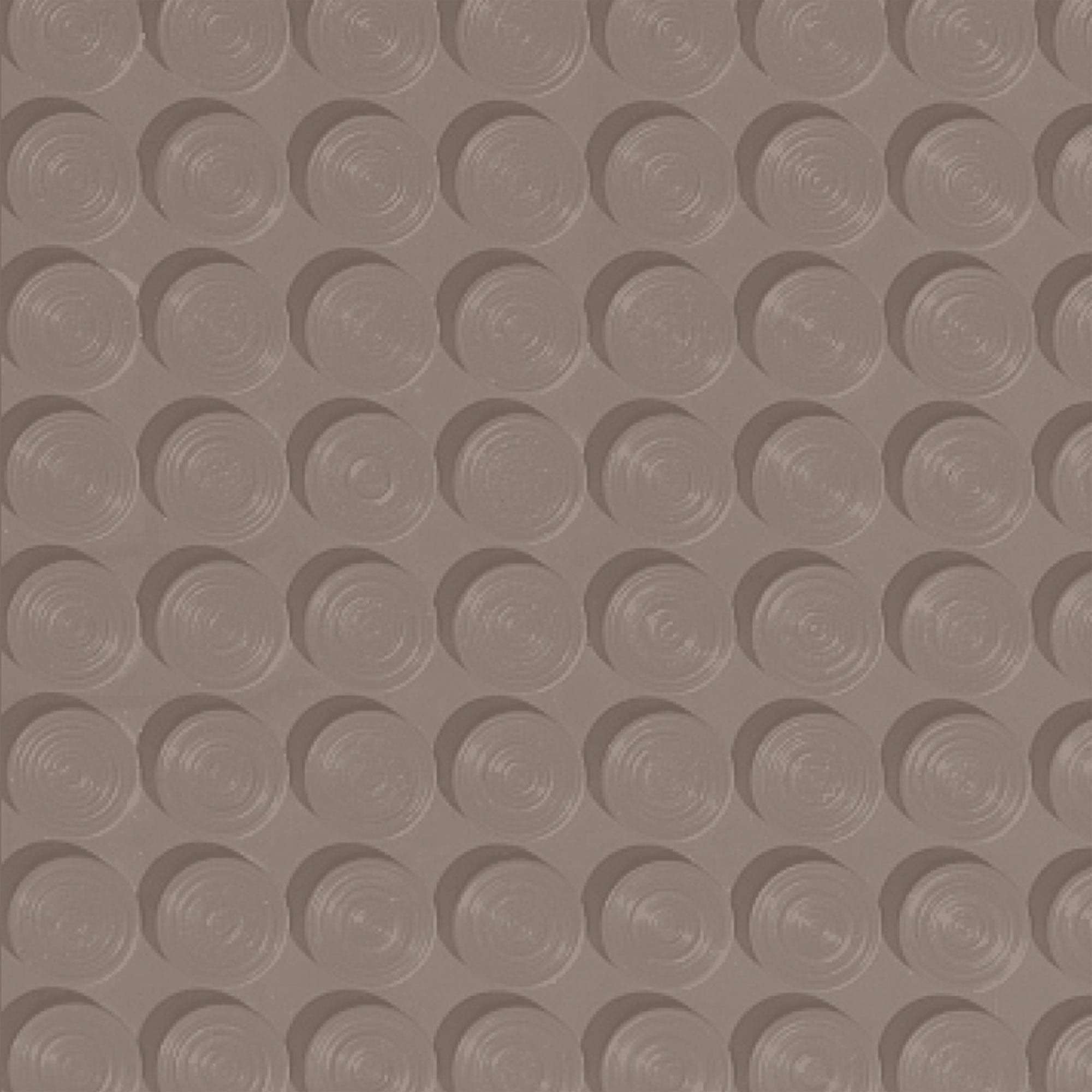 Roppe Rubber Tile 900 - Lug Back Vantage Design (LB996) Fawn Rubber Flooring