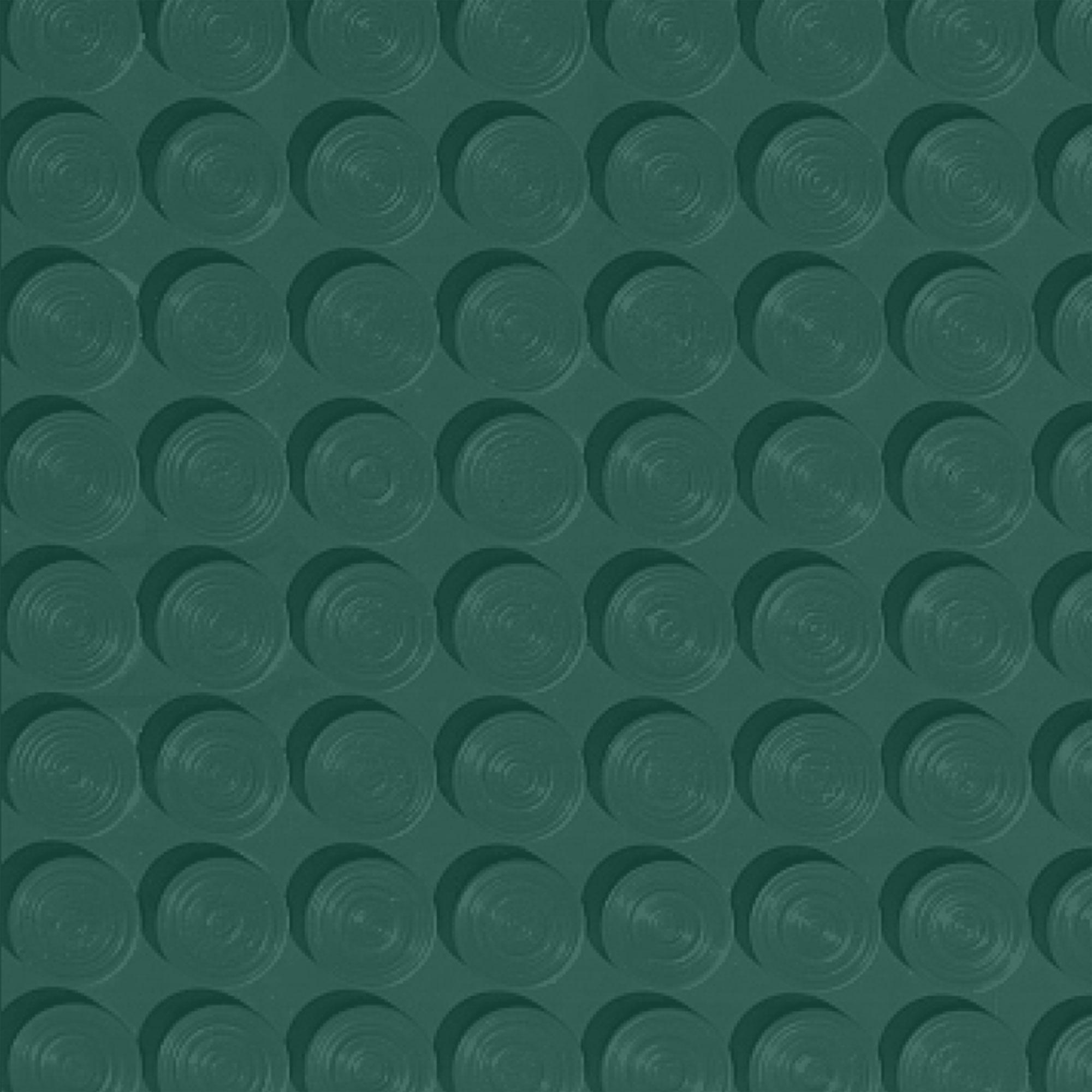 Roppe Rubber Tile 900 - Lug Back Vantage Design (LB996) Forest Green Rubber Flooring