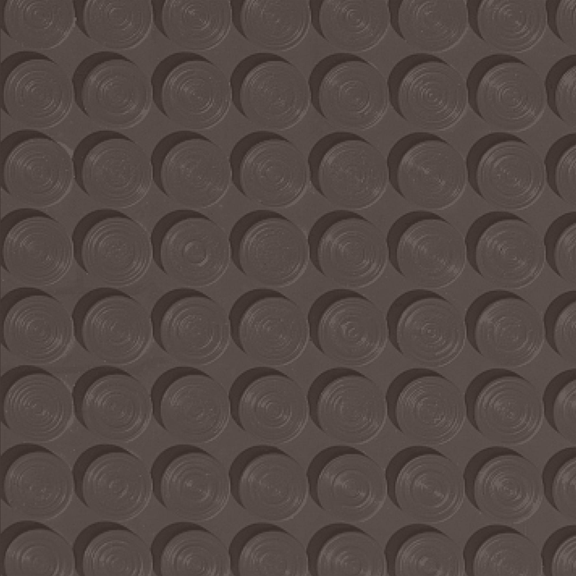 Roppe Rubber Tile 900 - Lug Back Vantage Design (LB996) Light Brown Rubber Flooring
