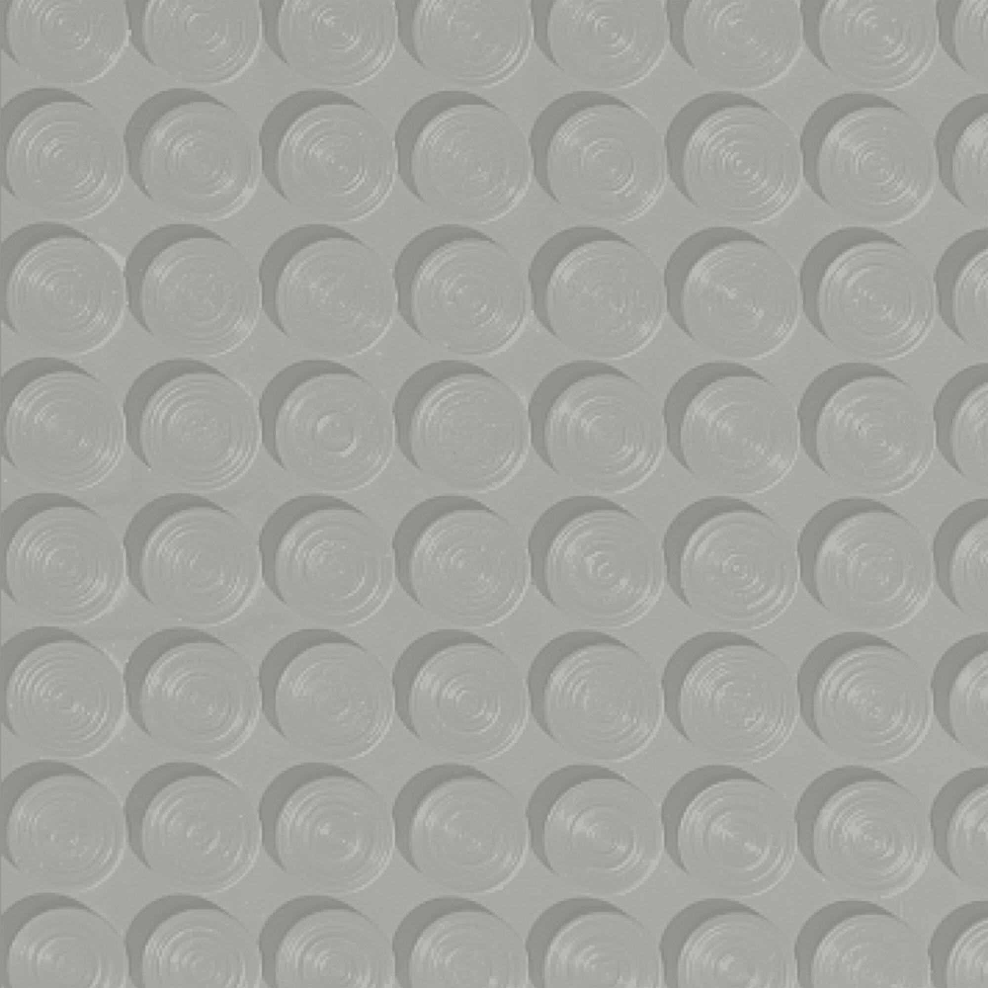 Roppe Rubber Tile 900 - Lug Back Vantage Design (LB996) Light Gray Rubber Flooring