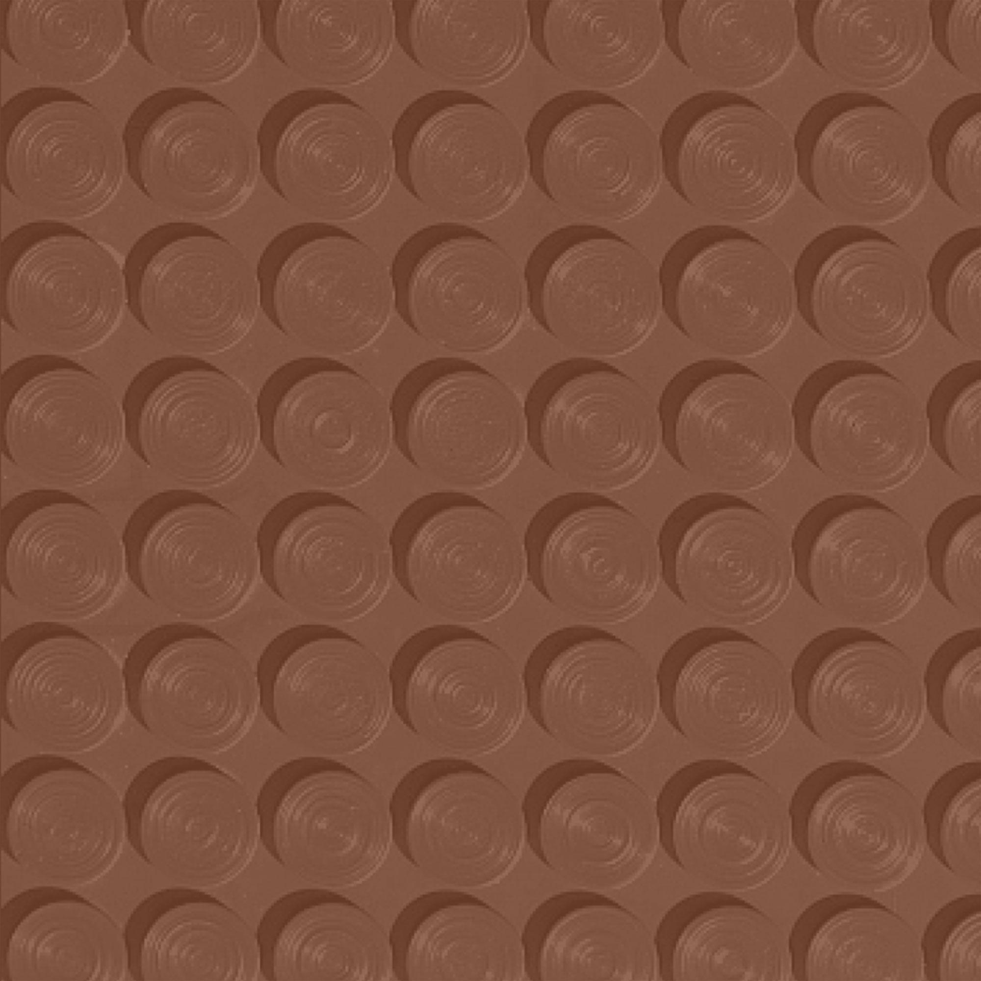 Roppe Rubber Tile 900 - Lug Back Vantage Design (LB996) Nutmeg Rubber Flooring