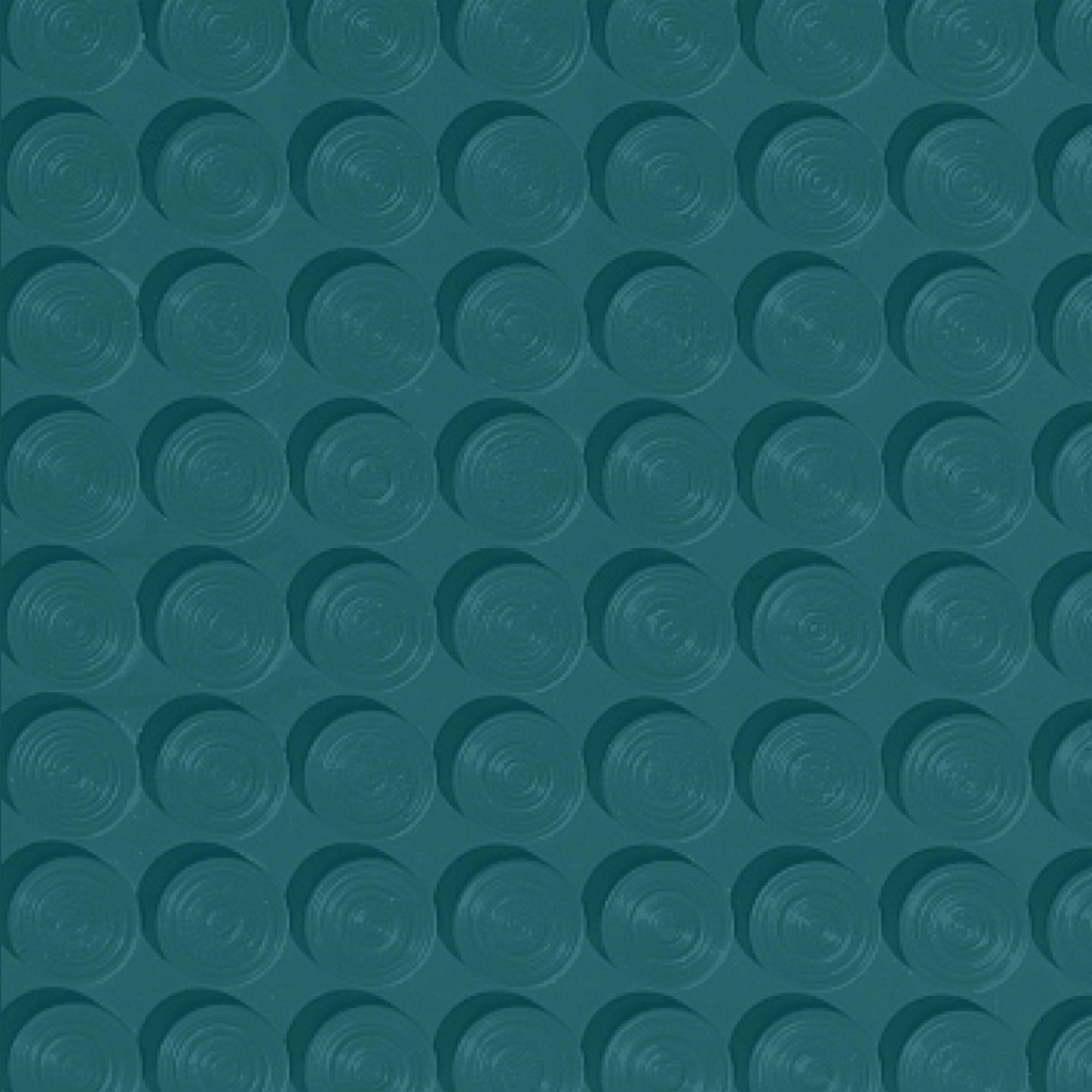 Roppe Rubber Tile 900 - Lug Back Vantage Design (LB996) Peacock Rubber Flooring