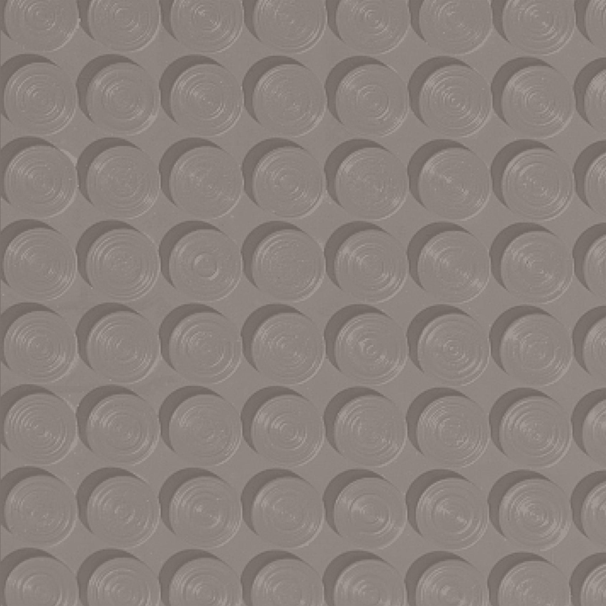 Roppe Rubber Tile 900 - Lug Back Vantage Design (LB996) Pewter Rubber Flooring