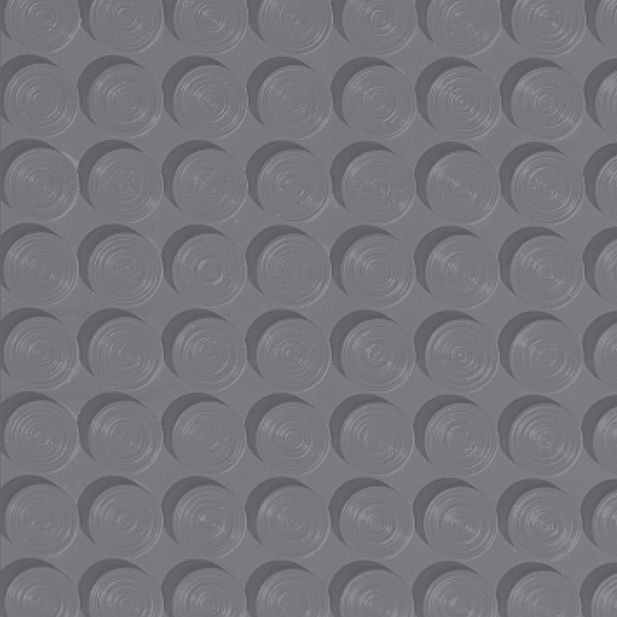 Roppe Rubber Tile 900 - Lug Back Vantage Design (LB996) Steel Gray Rubber Flooring