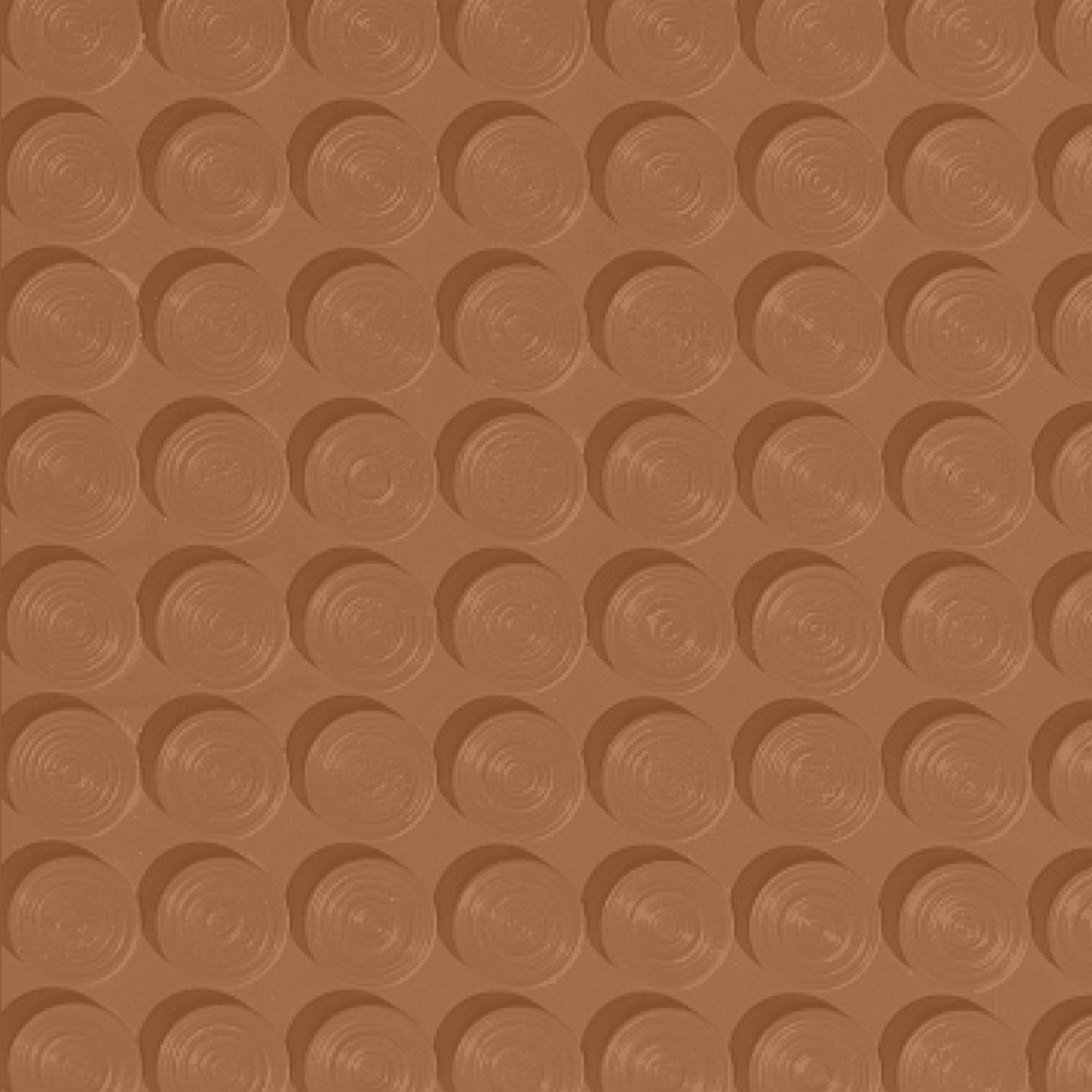 Roppe Rubber Tile 900 - Lug Back Vantage Design (LB996) Terracotta Rubber Flooring