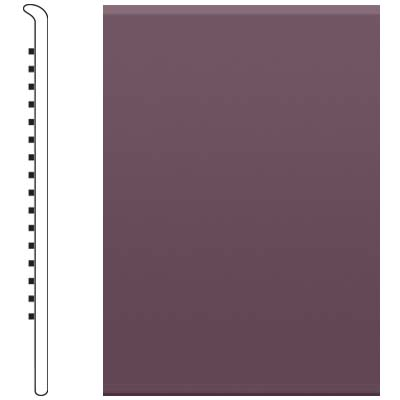 Roppe 700 Series Rubber No Toe Base 4 Burgundy Rubber Flooring