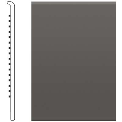 Roppe 700 Series Rubber No Toe Base 6 Burnt Umber Rubber Flooring