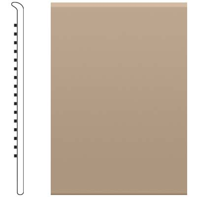 Roppe 700 Series Rubber No Toe Base 6 Camel Rubber Flooring