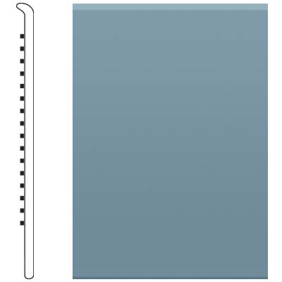 Roppe 700 Series Rubber No Toe Base 2-1/2 Colonial Blue Rubber Flooring