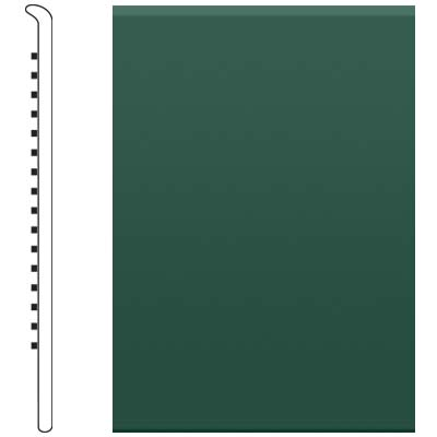 Roppe 700 Series Rubber No Toe Base 6 Forest Green Rubber Flooring