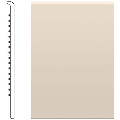 Roppe 700 Series Rubber No Toe Base 6 Ivory Rubber Flooring