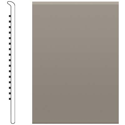 Roppe 700 Series Rubber No Toe Base 6 Pewter Rubber Flooring