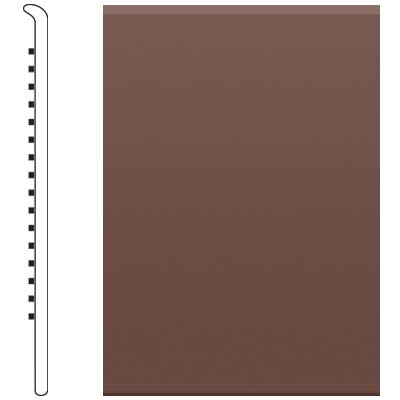 Roppe 700 Series Rubber No Toe Base 6 Russet Rubber Flooring