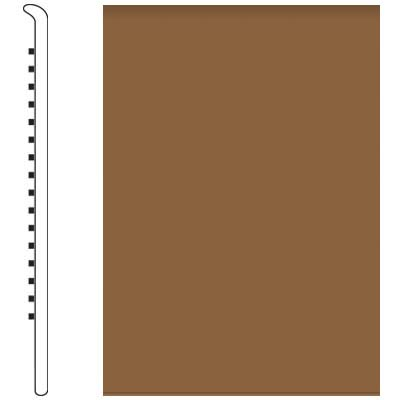Roppe Pinnacle Rubber No Toe Base 3-1/2 Bronze Rubber Flooring