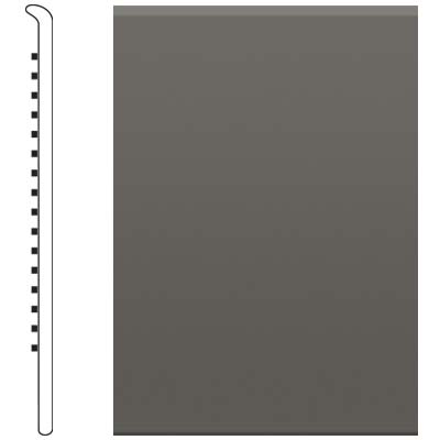 Roppe Pinnacle Rubber No Toe Base 5-1/2 Burnt Umber Rubber Flooring