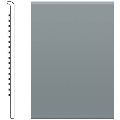 Roppe Pinnacle Rubber No Toe Base 2-1/2 Dark Gray Rubber Flooring
