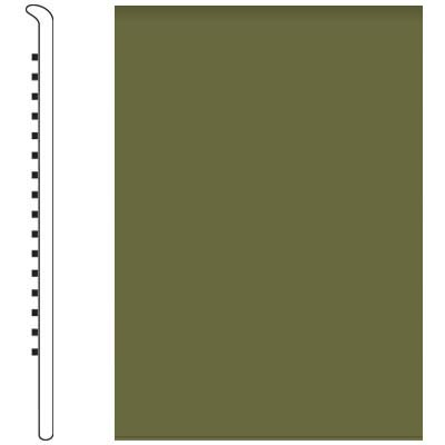 Roppe Pinnacle Rubber No Toe Base 3-1/2 Olive Rubber Flooring