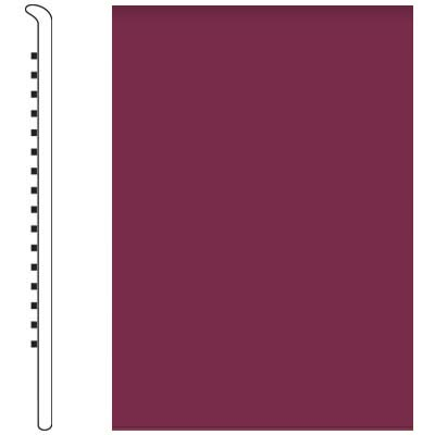 Roppe Pinnacle Rubber No Toe Base 5-1/2 Plum Rubber Flooring