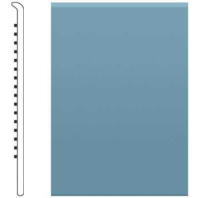 Roppe Pinnacle Rubber No Toe Base 3-1/2 Salem Blue Rubber Flooring