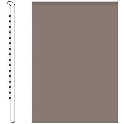 Roppe Pinnacle Rubber No Toe Base 5 Taupe Rubber Flooring