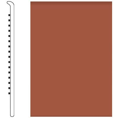 Roppe Pinnacle Rubber No Toe Base 5-1/2 Terracotta Rubber Flooring