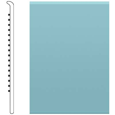 Roppe Pinnacle Rubber No Toe Base 5-1/2 Turquoise Rubber Flooring