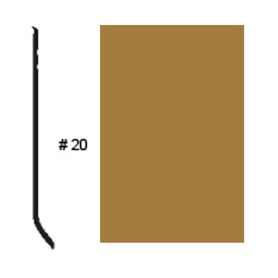 Roppe Pinnacle Plus Base #20 Brass Rubber Flooring