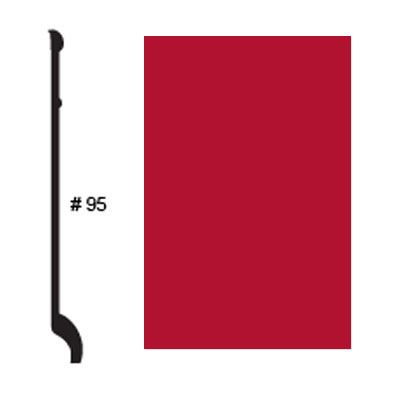 Roppe Pinnacle Plus Base #95 Red Rubber Flooring
