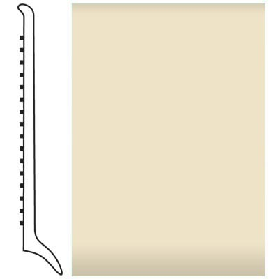 Roppe Pinnacle Rubber Wall Base 4 (Long Toe Base) Almond 184 Rubber Flooring