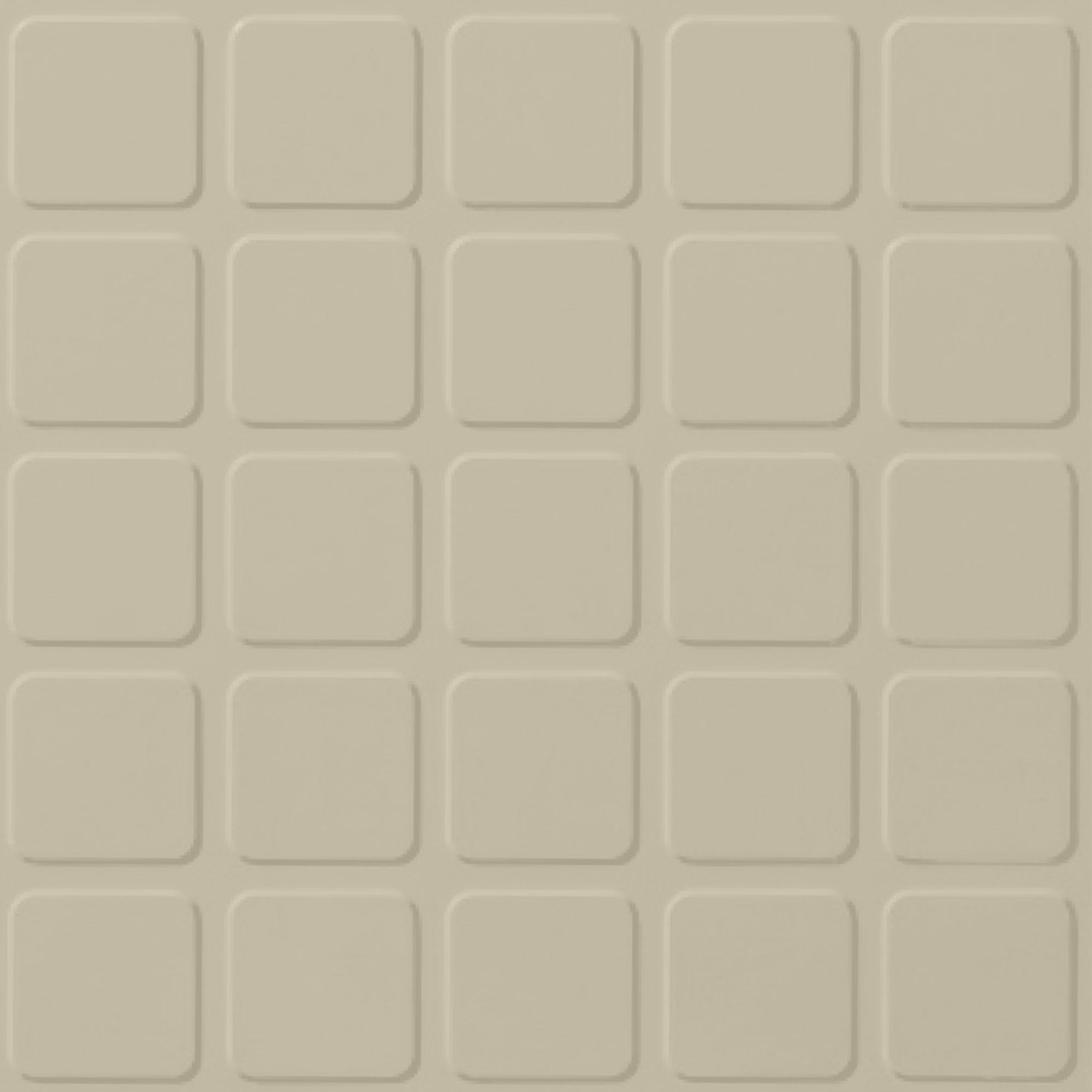 Roppe Rubber Tile 900 - Raised Square Design (994) Almond Rubber Flooring