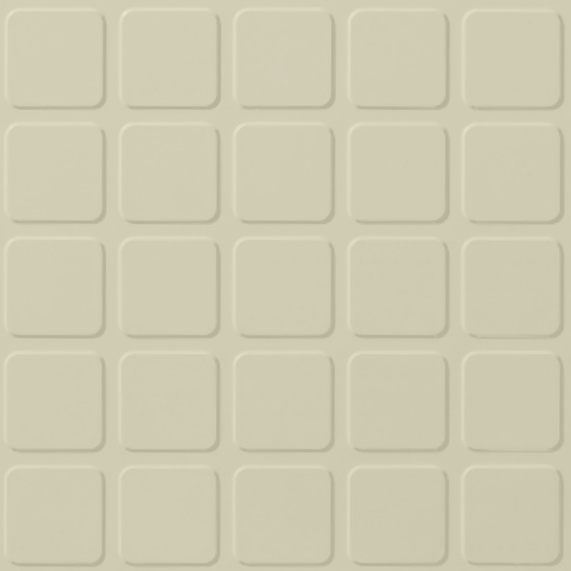 Roppe Performance Compound - Raised Square Design Bisque Rubber Flooring