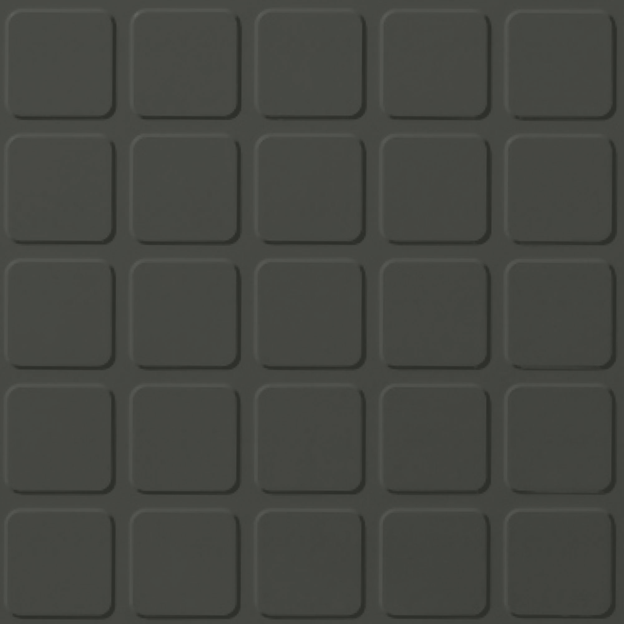 Roppe Rubber Tile 900 - Raised Square Design (994) Black Brown Rubber Flooring