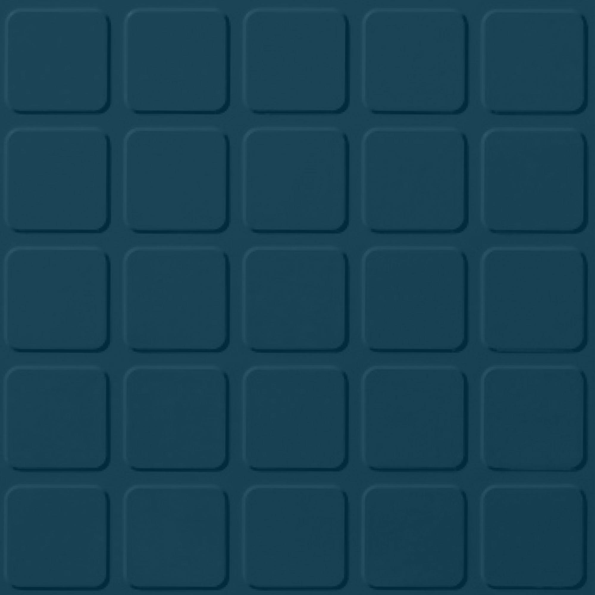 Roppe Rubber Tile 900 - Raised Square Design (994) Blue Rubber Flooring