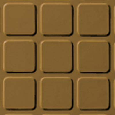 Roppe Rubber Tile 900 - Raised Square Design (994) Brass Rubber Flooring