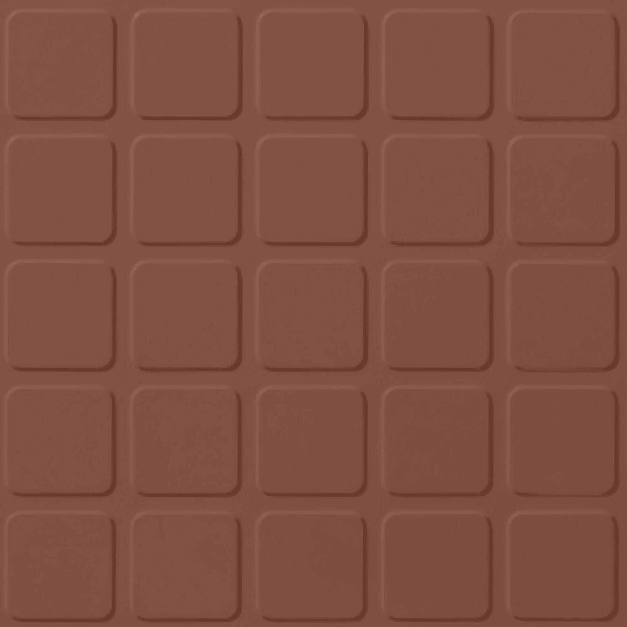 Roppe Rubber Tile 900 - Raised Square Design (994) Brick Rubber Flooring