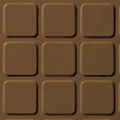 Roppe Rubber Tile 900 - Raised Square Design (994) Bronze Rubber Flooring