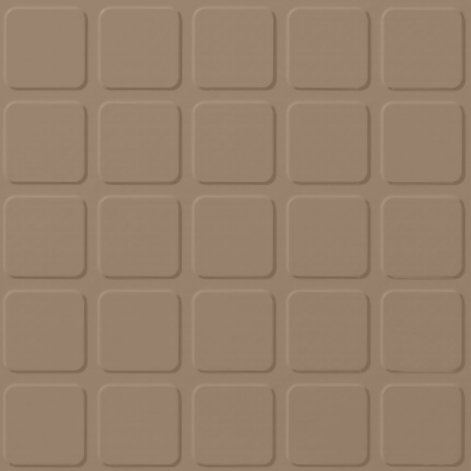 Roppe Performance Compound - Raised Square Design Buckskin Rubber Flooring