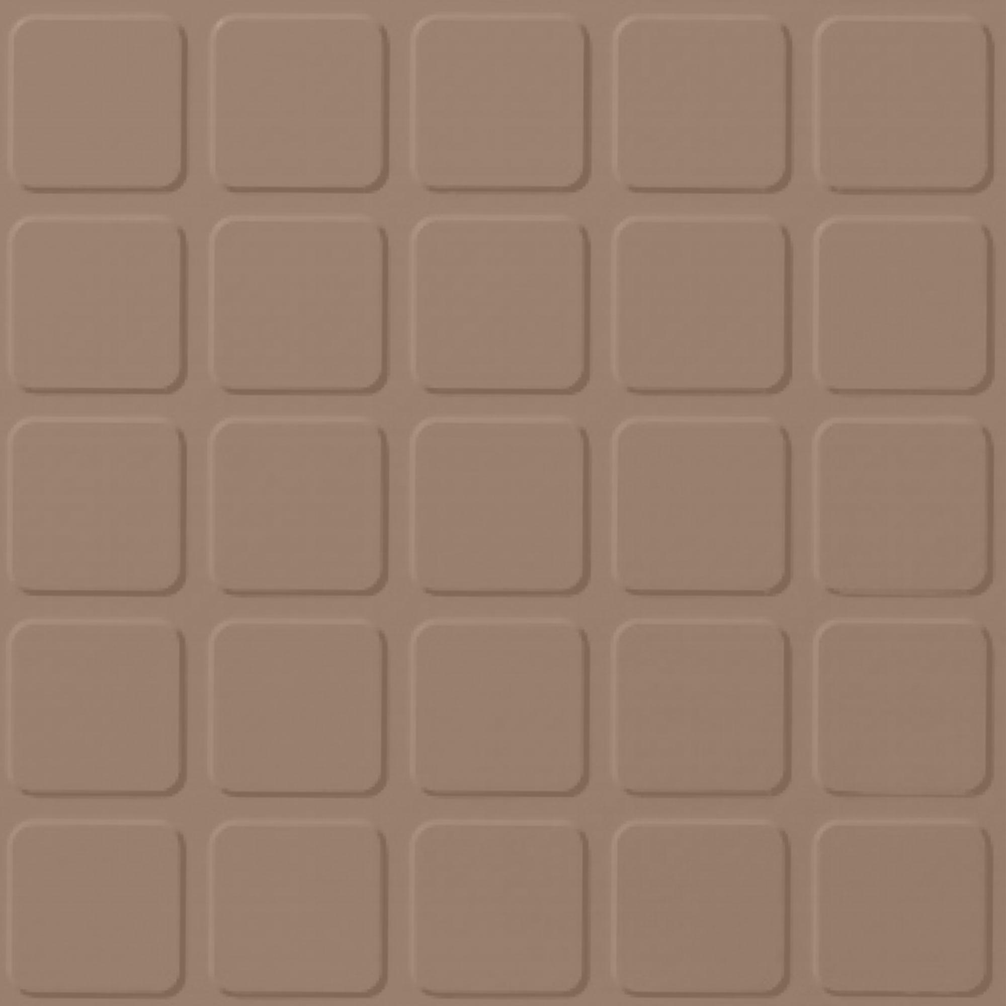 Roppe Rubber Tile 900 - Raised Square Design (994) Buckskin Rubber Flooring