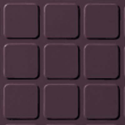 Roppe Rubber Tile 900 - Raised Square Design (994) Burgundy Rubber Flooring