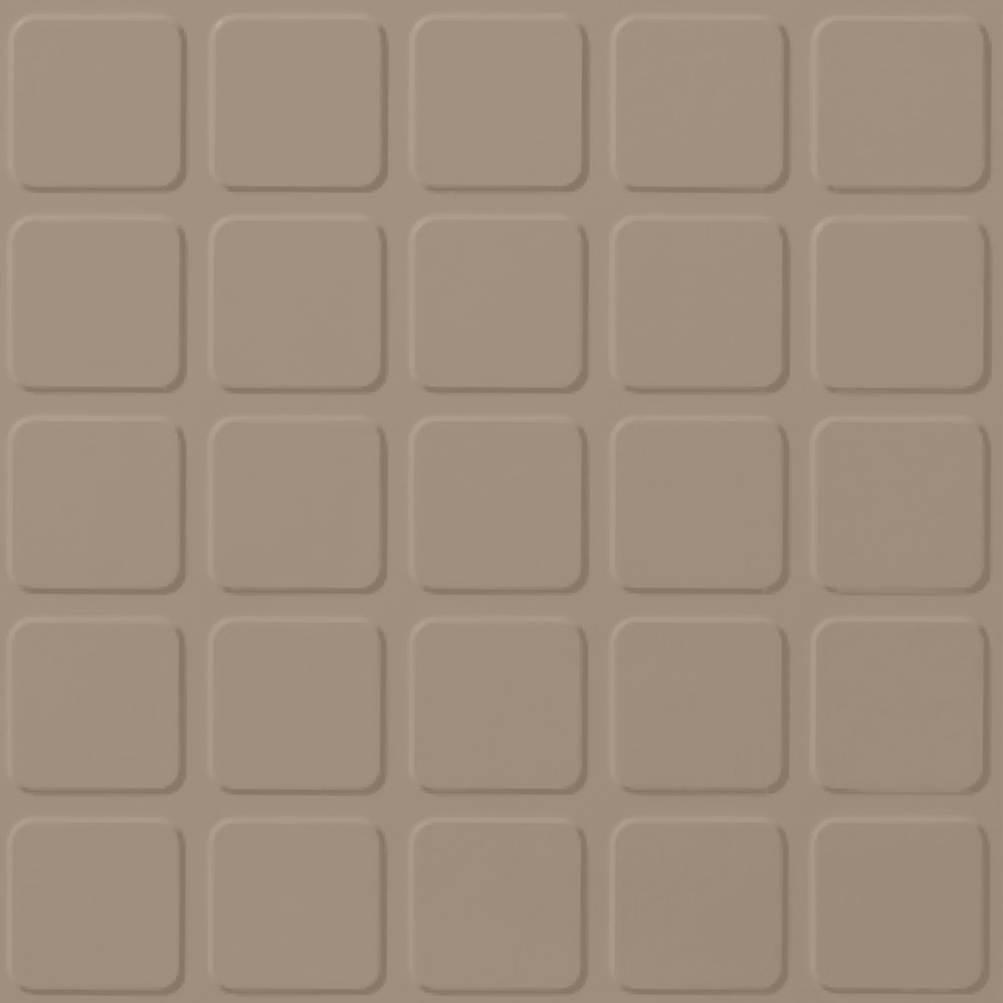 Roppe Rubber Tile 900 - Raised Square Design (994) Camel Rubber Flooring