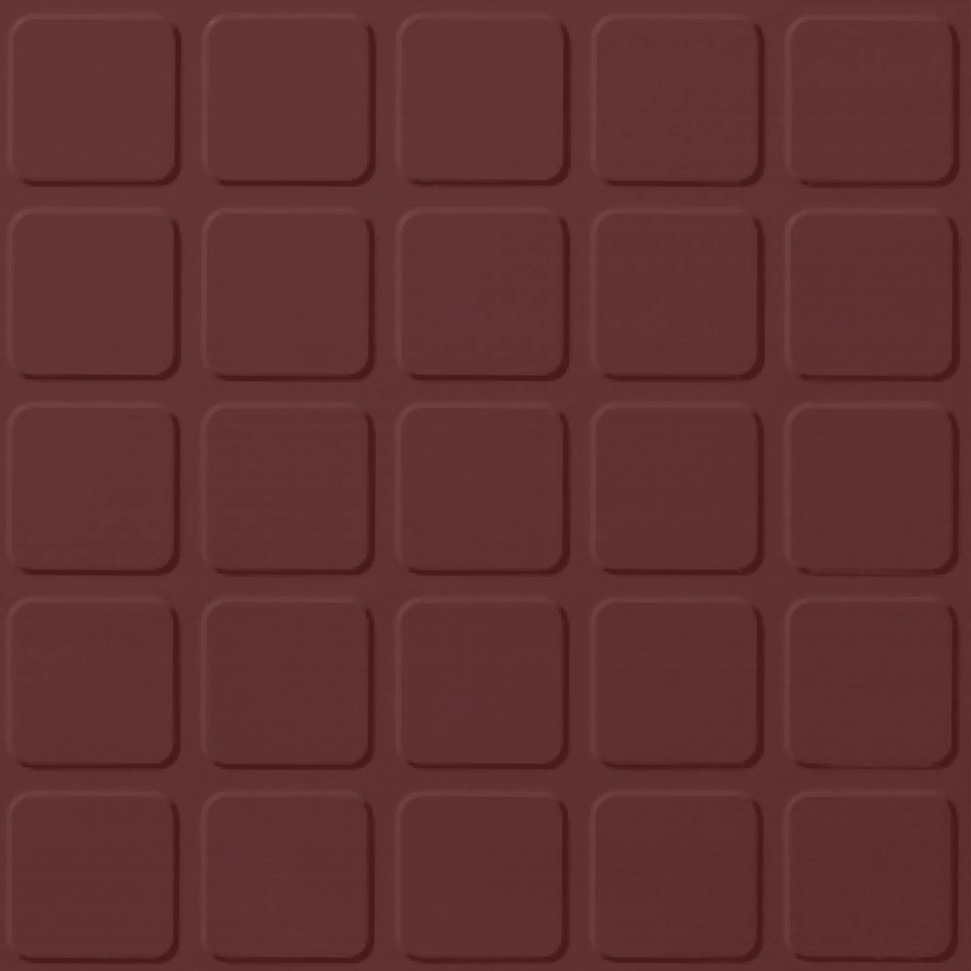 Roppe Rubber Tile 900 - Raised Square Design (994) Cinnabar Rubber Flooring