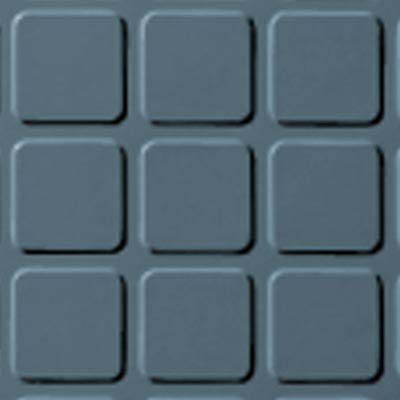 Roppe Rubber Tile 900 - Raised Square Design (994) Colonial Blue Rubber Flooring