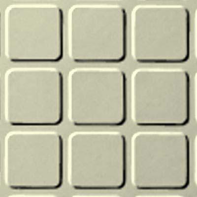 Roppe Rubber Tile 900 - Raised Square Design (994) Cream Rubber Flooring